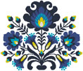 Polish Folk Art (Blue) - Cross Stitch Chart