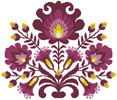 Polish Folk Art (Plum) - Cross Stitch Chart