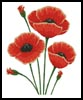 Poppies - Cross Stitch Chart