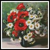 Poppies and Daisies - Cross Stitch Chart