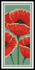 Poppies Bookmark - Cross Stitch Chart
