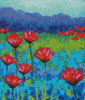Poppy Study (Crop) - Cross Stitch Chart
