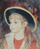 Portrait of a Girl with a Blue Hat - Cross Stitch Chart