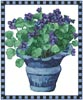 Pot of Violets - Cross Stitch Chart