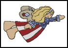 Prim American Angel - Cross Stitch Chart