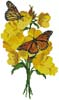 Primrose and Butterflies - Cross Stitch Chart