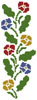 Primrose Border - Cross Stitch Chart