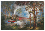 Puffing Billy (Large) - Cross Stitch Chart