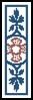 Pugin Design 1 Bookmark - Cross Stitch Chart