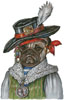Pug Pirate - Cross Stitch Chart