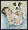 Puppy and Baby - Cross Stitch Chart