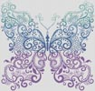 Purple Blue Green Butterfly - Cross Stitch Chart