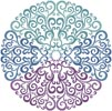 Purple Blue Green Circle - Cross Stitch Chart