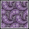 Purple Paisley Cushion - Cross Stitch Chart
