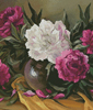 Purple Peonies (Crop) - Cross Stitch Chart