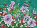 Purple Petunias - Cross Stitch Chart