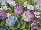 Purple Tulips and White Alstroneria - Cross Stitch Chart