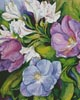 Purple Tulips and White Alstroneria (Crop) - Cross Stitch Chart