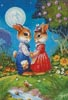Rabbits in the Moonlight - Cross Stitch Chart