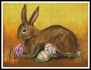 Rabbit with Eggs - Cross Stitch Chart