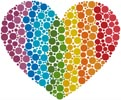 Rainbow Heart - Cross Stitch Chart
