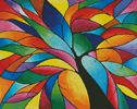 Rainbow Tree - Cross Stitch Chart
