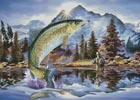 Rainbow Trout (Large) - Cross Stitch Chart