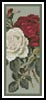 Red and White Roses Bookmark - Cross Stitch Chart