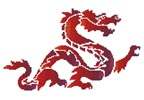 Red Dragon - Cross Stitch Chart