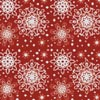 Red Snowflakes Cushion - Cross Stitch Chart