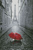 Red Umbrella in Paris - Cross Stitch Chart