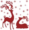 Reindeer Silhouettes - Cross Stitch Chart