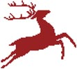 Reindeer Stencil - Cross Stitch Chart