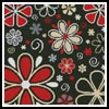 Retro Flowers Cushion - Cross Stitch Chart