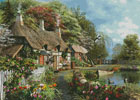 Riverside Home in Bloom (Large) - Cross Stitch Chart
