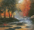 Rocks and Stream (Cushion) - Cross Stitch Chart