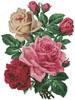 Rose Bouquet - (Facebook Group) Cross Stitch Chart