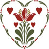 Rosemaling Heart 2 - Cross Stitch Chart