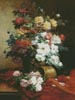 Roses and Dahlias - Cross Stitch Chart