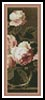 Roses in a glass vase Bookmark - Cross Stitch Chart