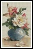 Roses in a Blue Vase - Cross Stitch Chart