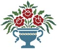 Rose Urn - Cross Stitch Chart