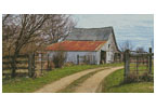 Rustic Barn (Left) - Cross Stitch Chart