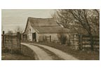 Rustic Barn (Sepia) - Cross Stitch Chart