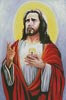 Sacred Heart of Jesus 3 - Cross Stitch Chart