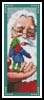 Santa and Elf Bookmark - Cross Stitch Chart