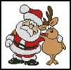 Santa and Reindeer - Cross Stitch Chart