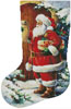 Santa at the Door Stocking (Left) - Cross Stitch Chart