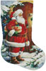 Santa at the Door Stocking (Right) - Cross Stitch Chart