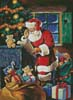 Santa Checking the List - Cross Stitch Chart